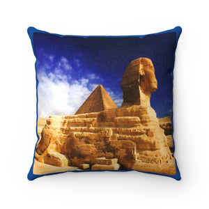 Faux Suede Square Pillow -  The Great Sphinx of Giza - Egypt