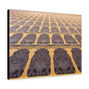 Printed in USA - Canvas Gallery Wraps - Beautiful carpet inside of the Grand Mosque Kuwait City -  Islam