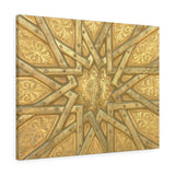 Printed in USA - Canvas Gallery Wraps - Islamic star on door - Islam