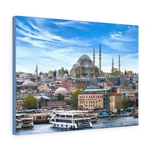 Printed in USA - Canvas Gallery Wraps - Istanbul the capital of Turkey - Blue Mosque - Islam