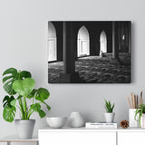 Printed in USA - Canvas Gallery Wraps - Faithful in Prayer in Mosque - B&W - Islam