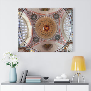 Printed in USA - Canvas Gallery Wraps - Dome of Suleymaniye Mosque in Istanbul, Turkey - Islam