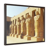 Horizontal Framed Premium Gallery Wrap Canvas -  View of Luxor Temple - Egypt - Ancient religions