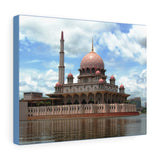 Printed in USA - Canvas Gallery Wraps - The floating mosque in Putrajaya Malaysia - Islam