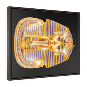 Horizontal Framed Premium Gallery Wrap Canvas -  Mask of Tutankhamen Mummy - Egypt - Ancient religions