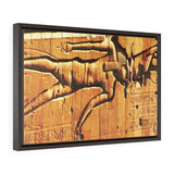 Horizontal Framed Premium Gallery Wrap Canvas - Luxor Temple section - Egypt - Ancient religions