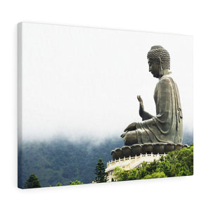 Printed in USA - Canvas Gallery Wraps - The Big Buddha giving Blessings - Hong Kong Lantau Island - China - Buddhism
