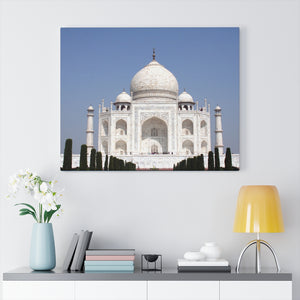 Printed in USA - Canvas Gallery Wraps - Taj Mahal - a UNESCO site - Monument to Love - Agra India - Islam