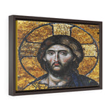 Horizontal Framed Premium Gallery Wrap Canvas - 11th century mosaic of Jesus Christ on the wall of Hagia Sophia Mosque in Istanbul