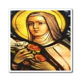 US Made - Magnets - for Christians to Remember our Saints and History -- Holy Nun on a church window