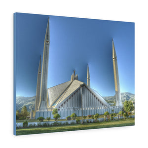 Printed in USA - Canvas Gallery Wraps - The Faisal Mosque in Islamabad, Pakistan.