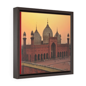 Square Framed Premium Canvas - Landmark mosque of Muhammad Ali in Cairo - Islam