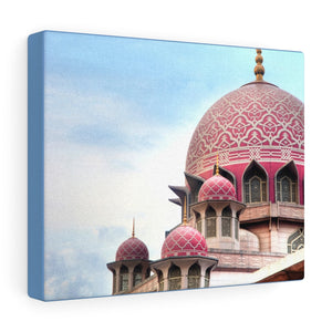 Printed in USA - Canvas Gallery Wraps - Putra Mosque is the principal mosque of Putrajaya, Malaysia.  - Islam