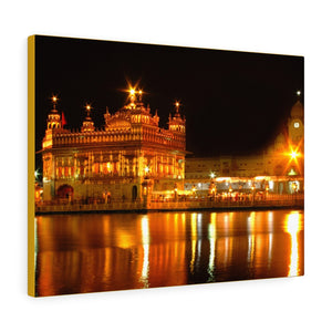 Printed in USA - Canvas Gallery Wraps - The Golden Temple in Amritsar, Punjab -  India - Sikhsm