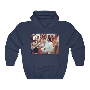 GILDAN 18500 - US Print - Unisex Heavy Blend Hooded Sweatshirt - Hindu Saint Ananda Mayi Ma - or bliss permeated Mother - All is His