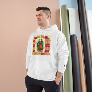 US Print - UNISEX Champion Hoodie - Our Lady Virgin of Guadalupe - Miracle apparition of Virgin Mary in 1531 to a humble peasant Indian in Mexico