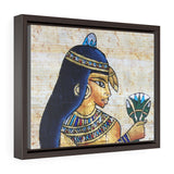 Horizontal Framed Premium Gallery Wrap Canvas - Beautiful Painting on Papyrus - Egypt - Ancient religions