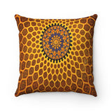 Faux Suede Square Pillow - Dome of the mosque Isfahan, Iran