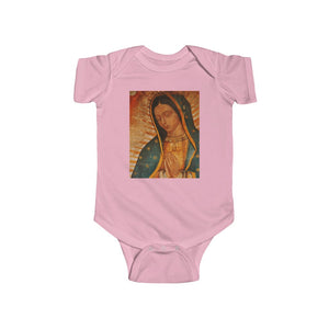 Body de jersey fino para bebé 100% Algodon  - Infant Fine Jersey Bodysuit - Our Lady of Guadalupe, also known as the Virgen of Guadalupe - Mexico - Catholicism