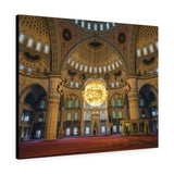Printed in USA - Canvas Gallery Wraps -  Kocatepe Mosque interior in the evening - Ankara, Turkey - Islam