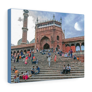 Printed in USA - Canvas Gallery Wraps - Main gate of Jama Masjid Msoque, Delhi, India - Islam