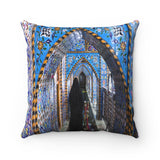 Faux Suede Square Pillow - The shrine of Imam Hussein in Karbala, Islam - Iraq