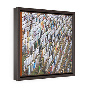 Square Framed Premium Canvas - Kolkata, India - Muslim prayer - Islam