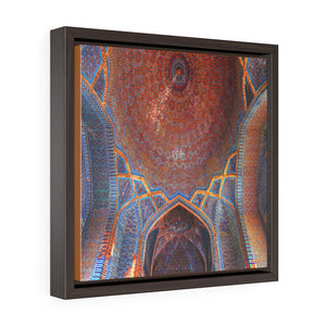 Square Framed Premium Gallery Canvas - Shah Jahan Mosque Pakistan Islam