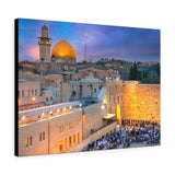 Printed in USA - Canvas Gallery Wraps - Al Aqsa Mosque in old city and the Western Wall  - Jerusalem