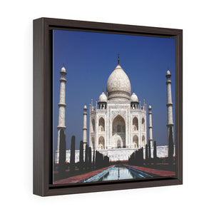 Square Framed Premium Canvas - The awesome Taj Mahal - A Moslem mausoleum - Agra, India - Islam #3