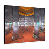 Printed in USA - Canvas Gallery Wraps - Muslim People in the Istiqlal Mosque - Indonesia - Universal Sunni - Islam
