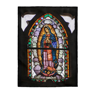 Manta de felpa de terciopelo - Velveteen Plush Blanket - Our Lady of Guadalupe, also known as the Virgen of Guadalupe - Mexico - Catholicism