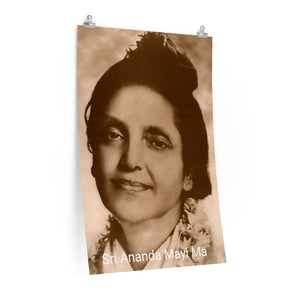 Quality Vertical  POSTER - US Made - Hindu Saint Ananda Mayi Ma - or bliss permeated Mother - Bring Blessings Home