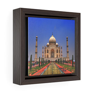 Square Framed Premium Canvas - The awesome Taj Mahal - A Moslem mausoleum - Agra, India - Islam #2