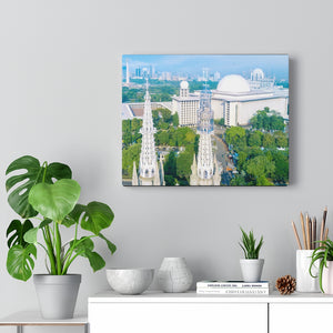 Printed in USA - Canvas Gallery Wraps - The Istiqlal Mosque built in front of major Christian Cathedral as a symbol of Harmony - Indonesia - Sunni - Islam