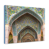 Printed in USA - Canvas Gallery Wraps - Arches of the Vakil Mosque in Shiraz, Iran - Islam