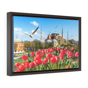 DEAL - Horizontal Framed Premium Gallery Wrap Canvas - Glorious External View of the Holy Hagia Sophia Mosque in Istanbul