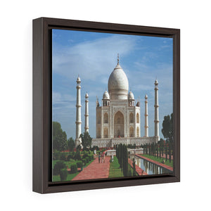 Square Framed Premium Canvas - The awesome Taj Mahal - A Moslem mausoleum - Agra, India - Islam #4