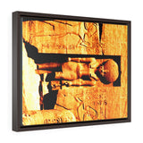 Horizontal Framed Premium Gallery Wrap Canvas - Ancient ruins and stone carvings at Abu Simbel - Egypt - Ancient religions