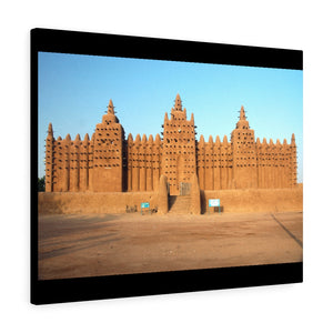Printed in USA - Canvas Gallery Wraps - A front view of the Djenne mud mosque in Mali - Africa - Islam