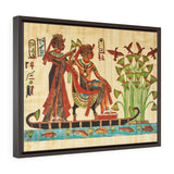 Horizontal Framed Premium Gallery Wrap Canvas - Egyptian papyrus - Egypt - Ancient religions