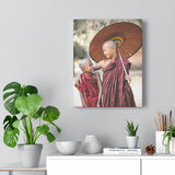 Printed in USA - Canvas Gallery Wraps - Novice Buddhist Monks at Shwe Yan Pyay Monastery - Myanmar - Buddhism
