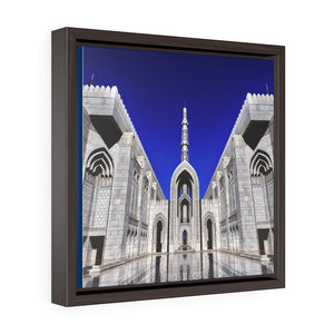 Square Framed Premium Canvas - Sultan Qaboos Grand Mosque - Oman - Islam