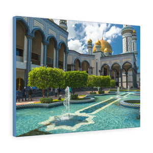 Printed in USA - Canvas Gallery Wraps - Jame Asr Hassanil Bolkiah Mosque - Brunei - Islam