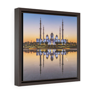 Square Framed Premium Canvas - Shikh Zayed Grand mosque in Abu Dhabi - UAE