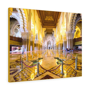 Printed in USA - Canvas Gallery Wraps - Interior of Hassan II Mosque - CASABLANCA - Morocco, Africa Islam