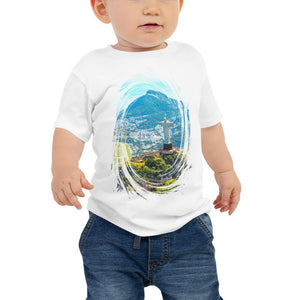Baby Jersey Short Sleeve Tee - T-Shirt  -  - Awesome Aerial view of Rio de Janeiro with Christ Redeemer - Christianity IMAGES OF GOD