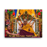 Canvas - The 14th Dalai Lama - Tenzin Gyatso - from Tibet, in exile in India - Tibetan Buddhism IMAGES OF GOD