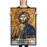 Enhanced Matte Paper Framed Poster (in) - Icon of Jesus Christ from the Cathedral of Hagia Sophia - Istanbul  - Christianity IMAGES OF GOD