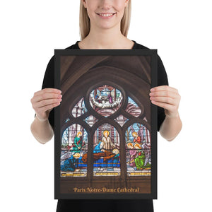 Enhanced Matte Paper Framed Poster (in) - Paris Notre-Dame Cathedral - Christianity IMAGES OF GOD